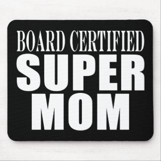 Madres divertidas de la diversión y mamá estupenda mousepad