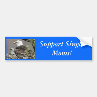 ¡Madres solteras de la ayuda de Eagle calvo! Pegatina De Parachoque