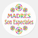Madres Son Especiales Classic Round Sticker