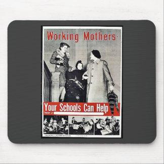 Madres trabajadoras tapete de raton