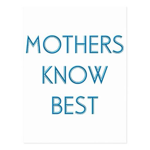 Madres y mamáes (4-6) postales