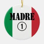 Madres y mamáes de lengua italiana: Uno de Madre Adorno Navideño Redondo De Cerámica