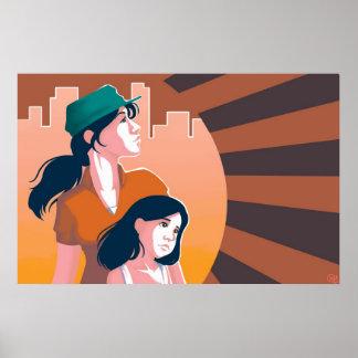 Madres y poster de las hijas
