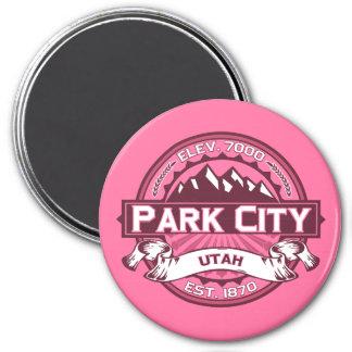 Madreselva del logotipo de Park City Imán Redondo 7 Cm