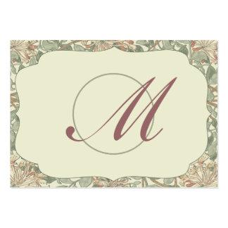 Madreselva verde de los regalos del favor del boda plantilla de tarjeta de negocio