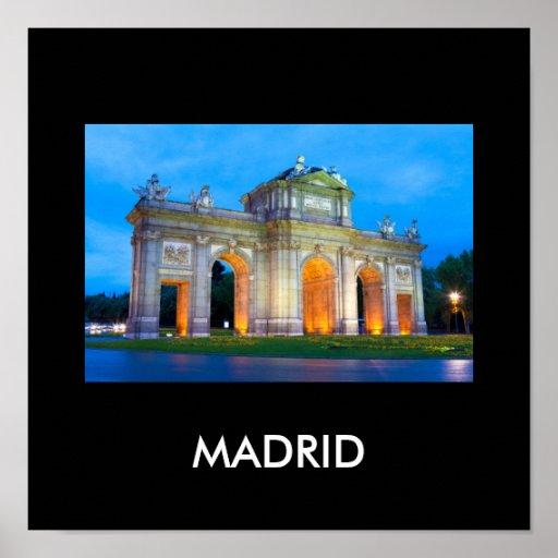 Madrid 001W Póster