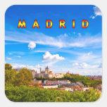 Madrid 02C Calcomanías Cuadradass Personalizadas
