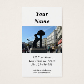 Madrid Business Card with 2013 calendar