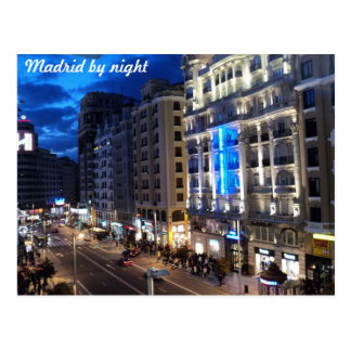 Madrid by night post card
