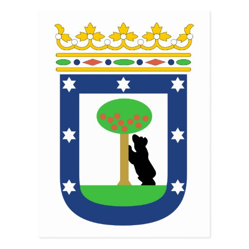 Madrid Coat Of Arms Postcard