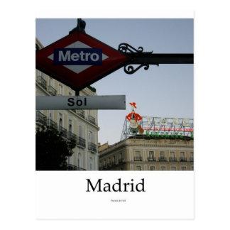 Madrid, Door of the Sun Postcard