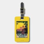 Madrid en poster promocional del viaje de la etiquetas para maletas
