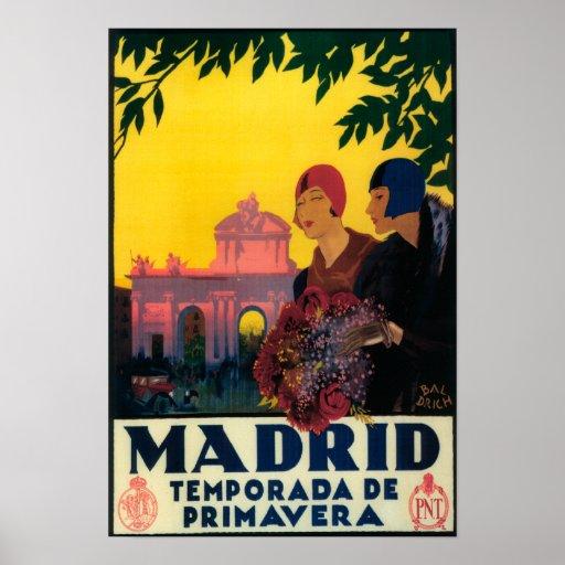Madrid en poster promocional del viaje de la prima