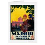 Madrid en poster promocional del viaje de la prima tarjeta de felicitación