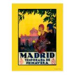 Madrid en poster promocional del viaje de la tarjeta postal