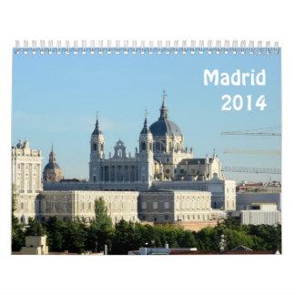 Madrid, España 2014 Calendarios
