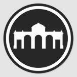 Madrid, España - la colección euro moderna Pegatina Redonda