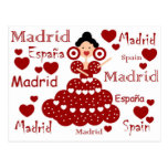 Madrid España muñeca flamenca Postales