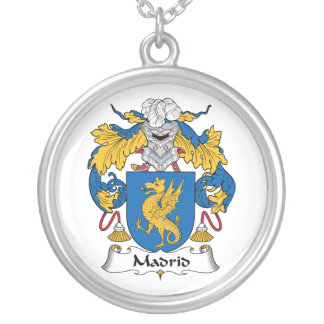 Madrid Family Crest Personalized Necklace