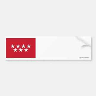 Madrid flag bumper sticker