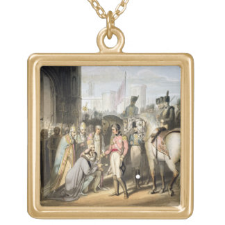 Madrid, from 'The Victories of the Duke of Welling Square Pendant Necklace