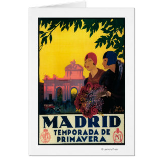 Madrid in Springtime Travel Promotional Poster Greeting Cards