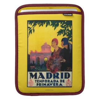 Madrid in Springtime Travel Promotional Poster Sleeve For iPads