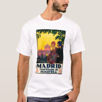 Madrid in Springtime Travel Promotional Poster T-Shirt