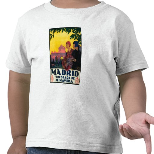 Madrid in Springtime Travel Promotional Poster Tees
