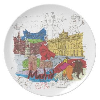 Madrid Melamine Plate