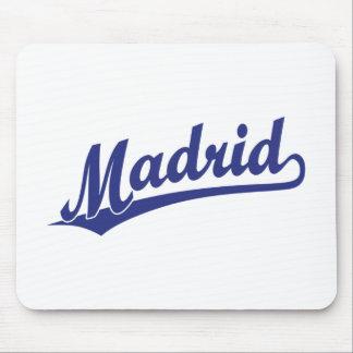 Madrid script logo in blue mousepad