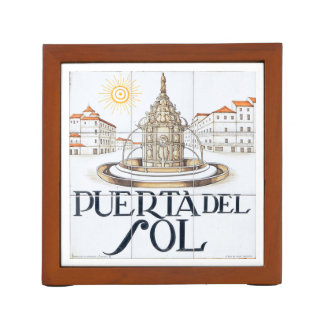 Madrid signs #1, Spain 2016 calendar template Pencil Holder