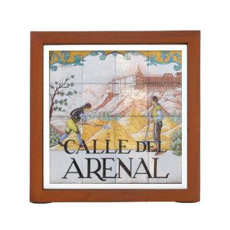 Madrid signs #3, Spain 2016 calendar template Pencil Holder