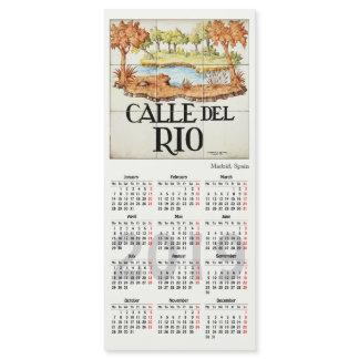 Madrid signs, Spain 2019 calendar