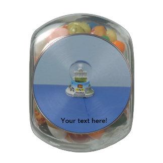 Madrid snowball glass jars