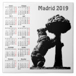 Madrid, Spain 2019 calendar Ceramic Tile