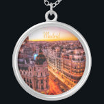 "Madrid Spain Capitol City Skyline Silver Plated Necklace<br><div class=""desc"">Madrid Spain Capitol City Skyline