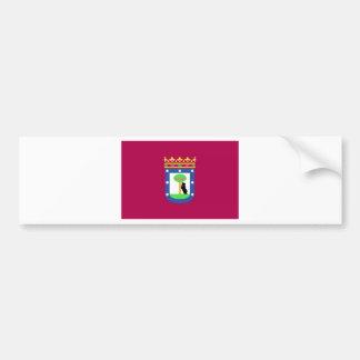 Madrid Spain (City) Flag Car Bumper Sticker