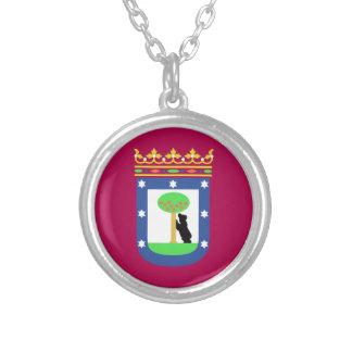 Madrid Spain (City) Flag Custom Necklace