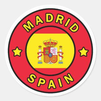 Madrid Spain Classic Round Sticker