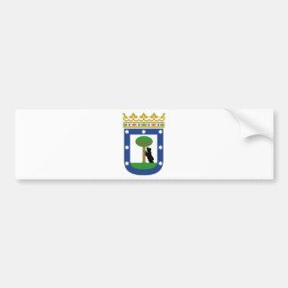 Madrid Spain Coat of Arms Car Bumper Sticker
