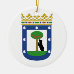 Madrid Spain Coat of Arms Christmas Ornaments