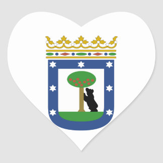Madrid Spain Coat of Arms Heart Sticker