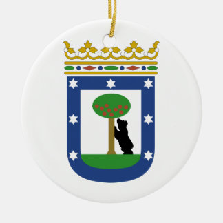 Madrid Spain Coat of Arms Double-Sided Ceramic Round Christmas Ornament