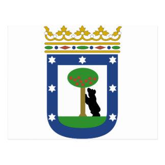 Madrid Spain Coat of Arms Postcard