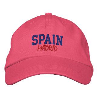 MADRID,SPAIN CUSTOM EMBROIDERED BASEBALL HAT