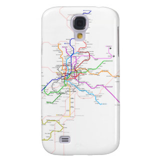 Madrid (Spain) Metro Map Samsung Galaxy S4 Covers