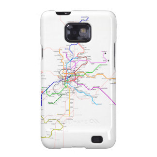 Madrid (Spain) Metro Map Samsung Galaxy SII Cases