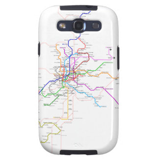 Madrid (Spain) Metro Map Galaxy SIII Cases