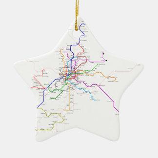Madrid (Spain) Metro Map Ceramic Ornament